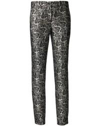 Pantaloni skinny stampati neri e bianchi di Michael Kors