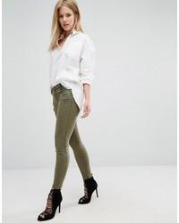 Pantaloni skinny verde oliva di Blank NYC