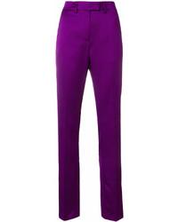 Pantaloni skinny viola melanzana di MSGM
