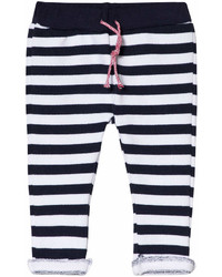 Pantaloni sportivi a righe orizzontali blu scuro
