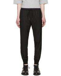 Pantaloni sportivi a righe verticali neri