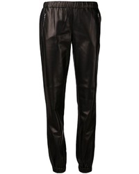 Pantaloni sportivi in pelle neri di Michael Kors