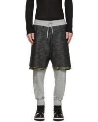 Pantaloni sportivi mimetici grigio scuro