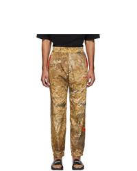 Pantaloni sportivi mimetici marrone chiaro