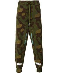 Pantaloni sportivi mimetici verde oliva