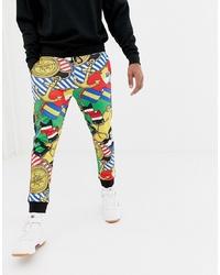 Pantaloni sportivi multicolori