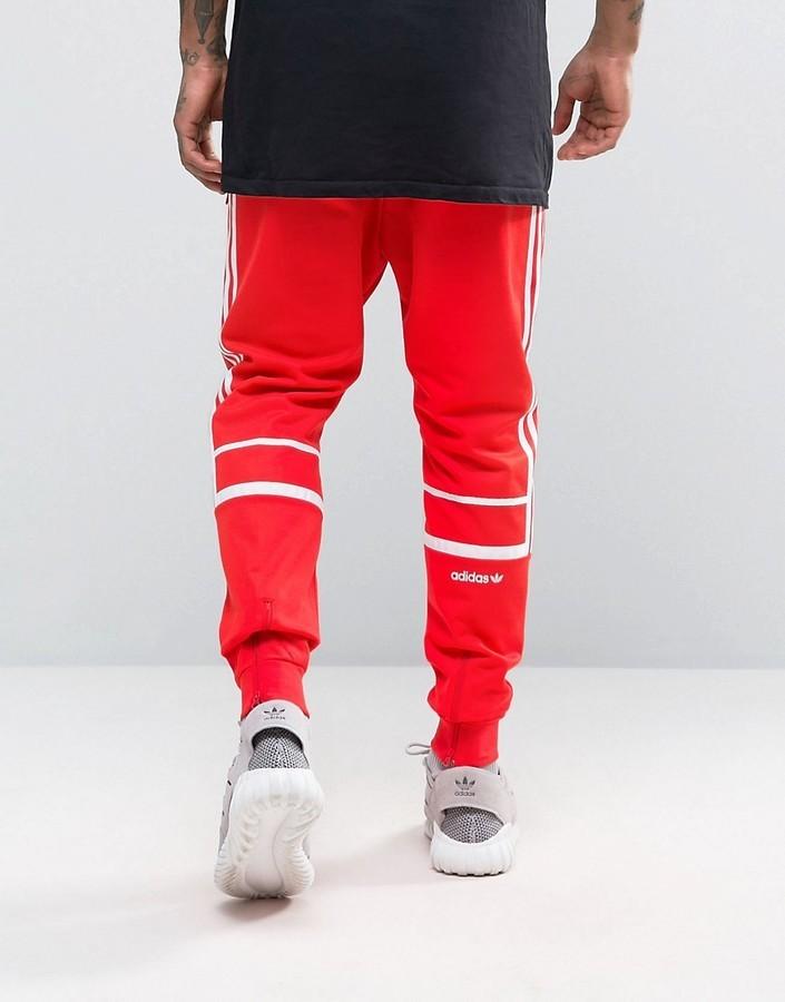 pantaloni sportivi rossi adidas