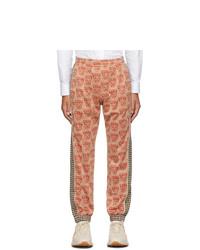 Pantaloni sportivi stampati arancioni