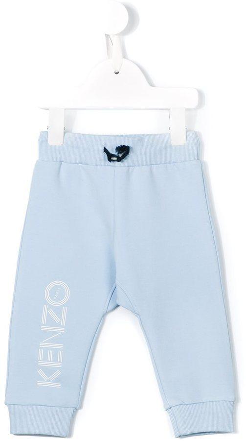 Pantaloni sportivi stampati azzurri di Kenzo