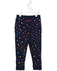 Pantaloni sportivi stampati blu scuro di Stella McCartney