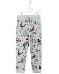Pantaloni sportivi stampati grigi di Stella McCartney