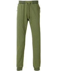 Pantaloni sportivi verde oliva