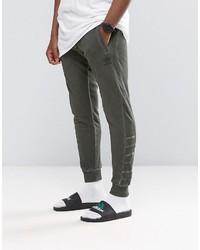 pantaloni adidas uomo verde militare