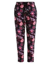 Pantaloni stretti in fondo a fiori multicolori di Even&Odd