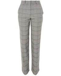 Pantaloni stretti in fondo a quadri grigi