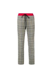 Pantaloni stretti in fondo a quadri grigi di Ermanno Scervino