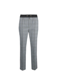 Pantaloni stretti in fondo a quadri grigi di Hilfiger Collection