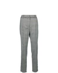 Pantaloni stretti in fondo a quadri grigi di MSGM