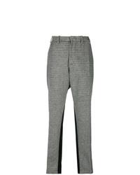 Pantaloni stretti in fondo a quadri grigi di N°21