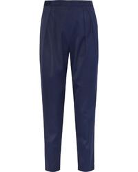 Pantaloni stretti in fondo blu scuro