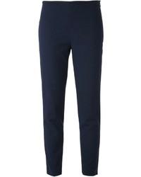 Pantaloni stretti in fondo blu scuro di Jil Sander