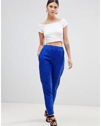 Pantaloni stretti in fondo blu di ASOS DESIGN