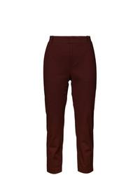 Pantaloni stretti in fondo bordeaux di Vince