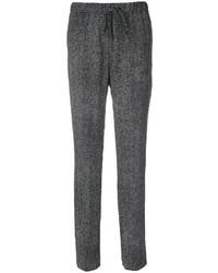 Pantaloni stretti in fondo di seta neri di Jil Sander