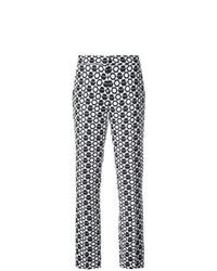 Pantaloni stretti in fondo geometrici neri di Derek Lam