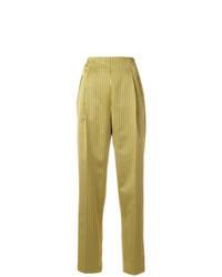 Pantaloni stretti in fondo gialli