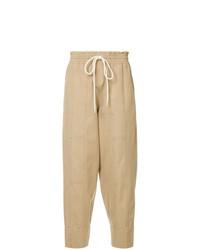 Pantaloni stretti in fondo marrone chiaro di Bassike
