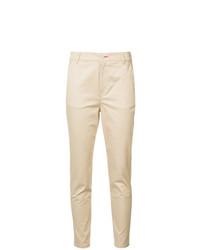 Pantaloni stretti in fondo marrone chiaro di Loveless