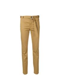 Pantaloni stretti in fondo marrone chiaro di RED Valentino
