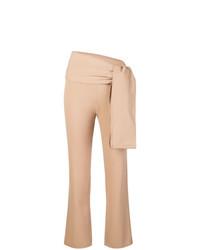 Pantaloni stretti in fondo marrone chiaro di Romeo Gigli Vintage
