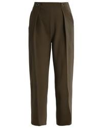 Pantaloni stretti in fondo marrone scuro di Topshop
