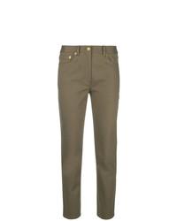 Pantaloni stretti in fondo marroni di Tory Burch