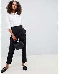 Pantaloni stretti in fondo neri di ASOS DESIGN