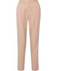 Pantaloni stretti in fondo rosa