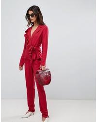 Pantaloni stretti in fondo rossi di Vila