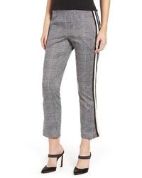 Pantaloni stretti in fondo scozzesi grigi