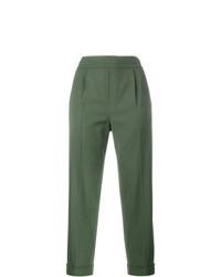 Pantaloni stretti in fondo verde oliva di Vince