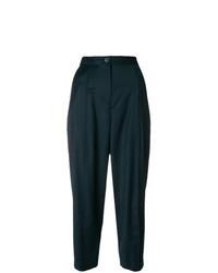 Pantaloni stretti in fondo verde scuro
