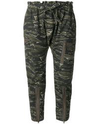 Pantaloni verde scuro di Current/Elliott