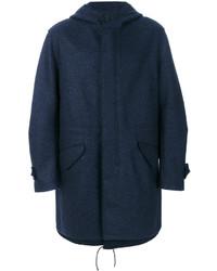 Parka di lana blu scuro