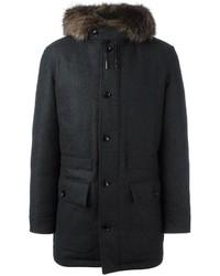 Parka di lana nero di Ermenegildo Zegna