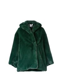 Pelliccia corta verde scuro di Courreges