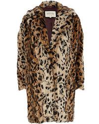 Pelliccia leopardata marrone chiaro