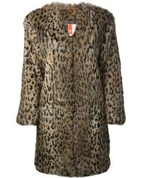 Pelliccia leopardata marrone