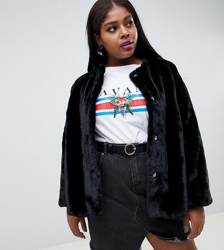 Pelliccia nera di New Look Plus
