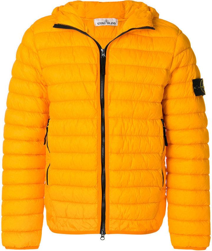 big sale bf609 45388 Piumino giallo di Stone Island